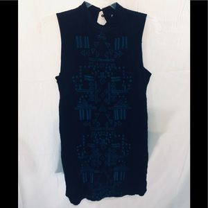 Free people embroidered short sleeve tunic S